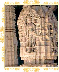 Carvings on Jain Temple