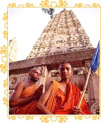 Monks at Mahabodhi Temple